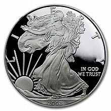 2008-W Proof Silver American Eagle PF-69 NGC (Retro Black Insert) - L27133