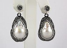 Victorian Vintage Mother of Pearl Earring - L22990