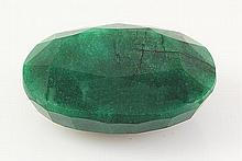 Emerald 198.76ctw Loose Gemstone 44x34x17mm Oval Cut - L20497