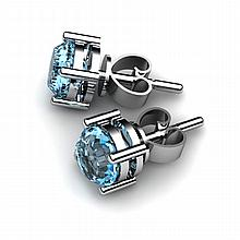 Topaz 1.12ctw Earring 14kt White Gold - L10889