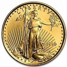 1999 1/10 oz Gold American Eagle - Brilliant Uncirculated - L30157