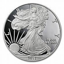 2013-W (Proof) Silver American Eagle (w/Box & CoA) - L27273