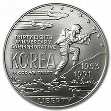 1991-D Korean War $1 Silver Commemorative - MS-69 PCGS - L30412