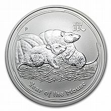 2008 1 oz Silver Year of the Mouse Coin (Series II) - L30845
