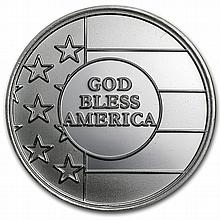 1 oz God Bless America Silver Round - L26025