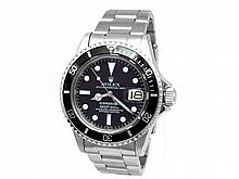 40mm Gents Rolex Stainless Steel Oyster Perpetual Submariner Watch. Black Dial. Stainless Steel Bezel, black insert. Stainless Steel Oyster Band. - L29712