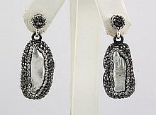 Victorian Vintage Mother of Pearl Earring - L23002