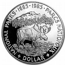 Canada 1985 Proof Silver 1 Dollar - National Parks (Moose) - L30812