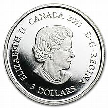 2011 1/4 oz Proof Silver Canadian $3 Family Scene - L28282