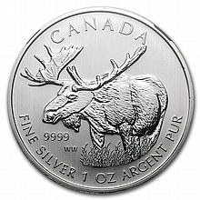 2012 1 oz Silver Canadian Wildlife Series - Moose MS-68 NGC - L26957