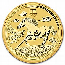 2014 1/20 oz Gold Lunar Year of the Horse (Series II) - L28083