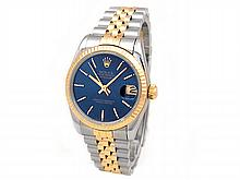 31mm Midsize Rolex 18k Gold & Stainless Steel Oyster Perpetual Datejust Watch. Blue Dial. 18K Yellow Gold Fluted Bezel. 18k Gold & Stainless Steel Jubilee Band. Style 78273. - L29673