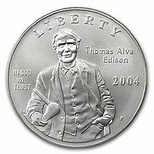 2004-P Thomas Edison $1 Silver Commemorative - MS-70 PCGS - L25944