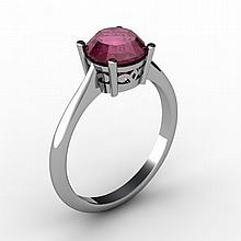 Ruby 1.60 ctw Ring 14kt White Gold - L15192