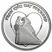 2014 1 oz Wedding Silver Round (w/Gift Box & Capsule) - L29172