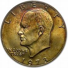 1973-S Eisenhower Silver Dollar MS-66 - PCGS Beautiful Toning - L29302