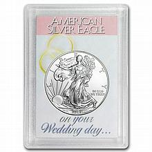 2014 1 oz Silver Eagle in Wedding Day Design Harris Holder - L26797