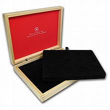 O' Canada 1/2 oz coins - 12 Coin Wood Presentation Box - L28786