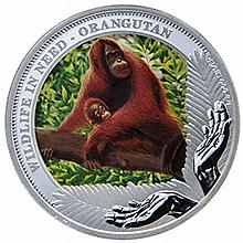 2011 1 oz Proof Silver Orangutan- Wildlife in need Series - L27144
