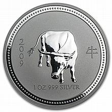 2009 1 oz Silver Lunar Year of the Ox (Series I) - Key Date! - L30787