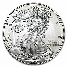 1996 1 oz Silver American Eagle (Brilliant Uncirculated) - L29871