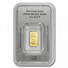 1 gram Holy Land Mint Dove of Peace Gold Bar (In Assay) New Bars! - L26361