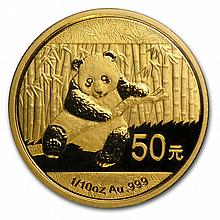 2014 1/10 oz Gold Chinese Panda (Sealed) - L28413