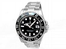 Gents Rolex Stainless Steel Oyster Perpetual GMT-Master II Watch. Black Dial. Stainless Steel Bezel, black insert. Stainless Steel Oyster Band. Style 116710. - L29706