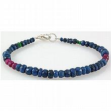 49.25ct Single Faceted Multi-Color Beads Bracelet - L15723
