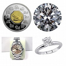 DIAMOND,FINE JEWELRY,GOLD & SILVER COINS!!!