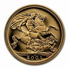 Great Britain 1/2 Sovereign Gold Elizabeth II Random Date BU/PR - L31092