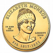2008-W 1/2 oz Uncirculated Gold Elizabeth Monroe (w/Box & CoA) - L31247