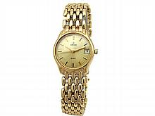 Lady's 14k Yellow Gold Concord Watch. Champagne Dial. Yellow Gold Band. Weight: 39.3 grams. - L29649