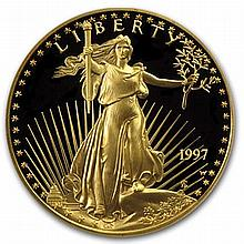 1997-W 1/2 oz Proof Gold American Eagle (w/Box & CoA) - L31511