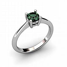 Emerald 0.48ctw Ring 14kt White Gold - L10959
