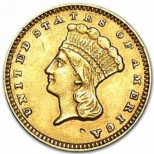 $1 Indian Head Gold - Type 3 - Extra Fine - L29956