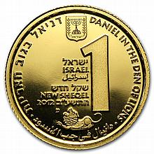 2012 Israel Daniel in the Lion's Den Biblical Art-Smallest Gold - L27153