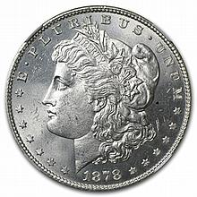 1878 Morgan Dollar - 7 TF Rev. of 78 MS-65 NGC - L30948