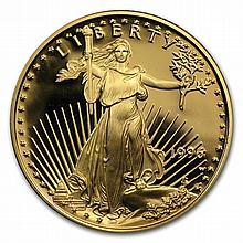 1996-W 1/4 oz Proof Gold American Eagle (w/Box & CoA) - L30063
