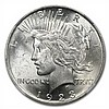 1922-1925 Peace Silver Dollars - MS-62 NGC - L27963