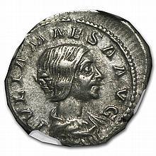 Roman Silver Denarius of Julia Maesa (218-224/5AD) NGC ChXF - L27493