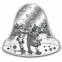 Niue 2012 Proof Silver $2 Christmas Bell with Swarovski Crystal - L27184