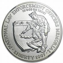 1997-P Law Enforcement $1 Silver Commemorative - MS-69 NGC - L29484