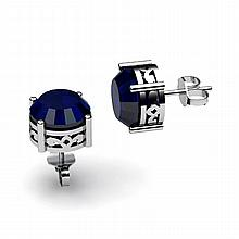 Sapphire 3.20ctw Earring 14kt White Gold - L11175