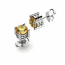 Citrine 1.40ctw Earring 14kt White Gold - L11156