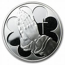 1 oz Praying Hands Silver Round (w/Box & Capsule) - L25873
