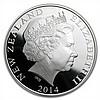 2014 1 oz Silver Proof New Zealand Treasures $1 Kiwi Coin - L28231