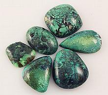 Natural Turquoise 188.34ctw Loose Small Gemstone Lot of 6 - L21340