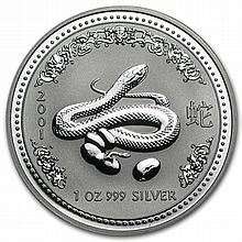 2001 1 oz Silver Lunar Year of the Snake (Series I) - L29894