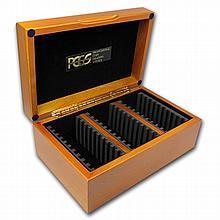 Hardwood Slab Gift Box w/PCGS Logo - Thirty Slabs - L28940